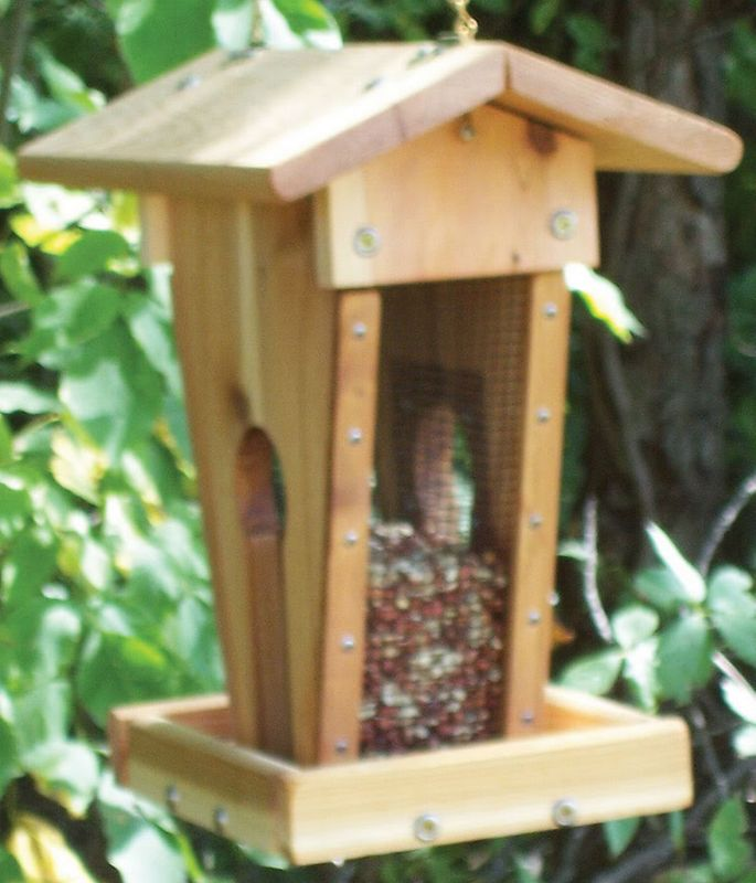 Stovall Wood Peanut Sunflower Feeder (SP20F 894259002164 Wild Bird Supplies Bird Feeders) photo