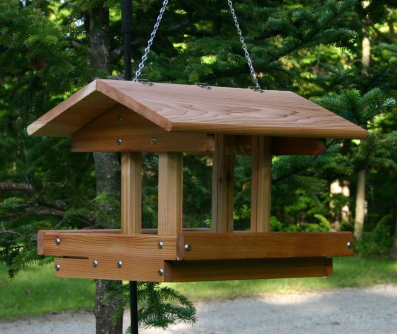 Stovall Deluxe 4 Sided Feeder (SP21F 894259002713 Wild Bird Supplies Bird Feeders) photo