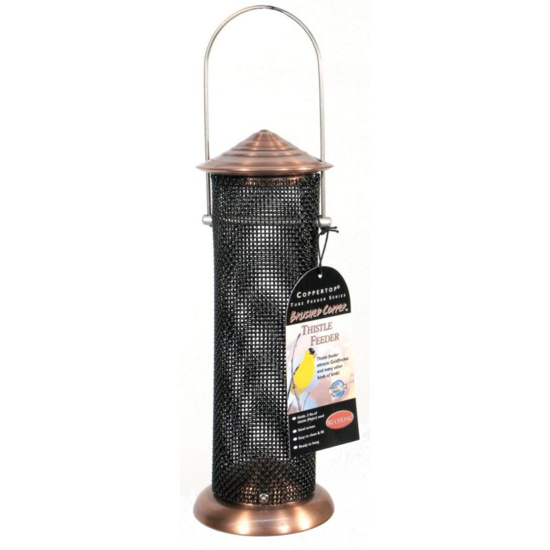 Woodlink Coppertop Thistle Mini Tube Feeder (WLLCOPTMINI 715038306603 Wild Bird Supplies Bird Feeders) photo