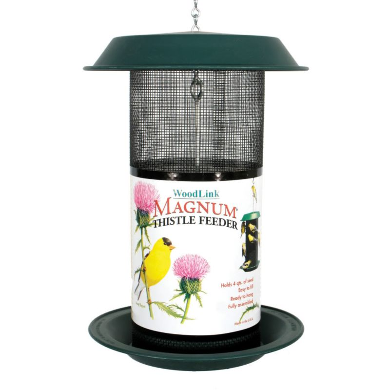 Woodlink Magnum Thistle Feeder 4 Quart (WLLMAG2 715038398110 Wild Bird Supplies Bird Feeders) photo