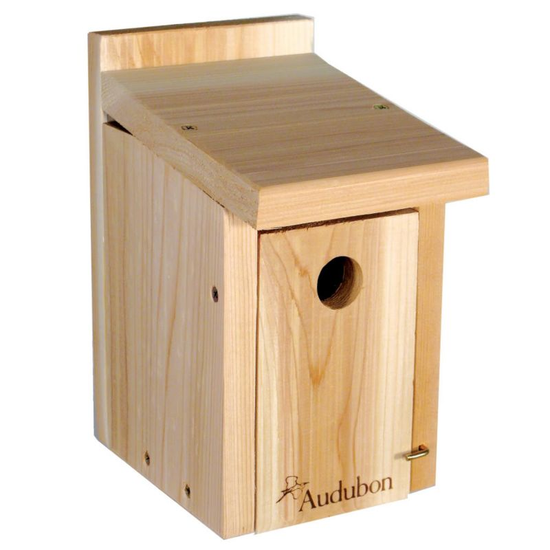 Woodlink Audubon Cedar Wren Chickadee House (WLLNAWRCH 715038302049 Wild Bird Supplies Bird Houses) photo