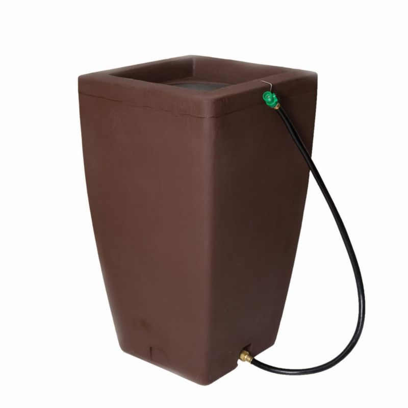 Algreen Madison 49Gal Rain Barrel Chocolate Brown