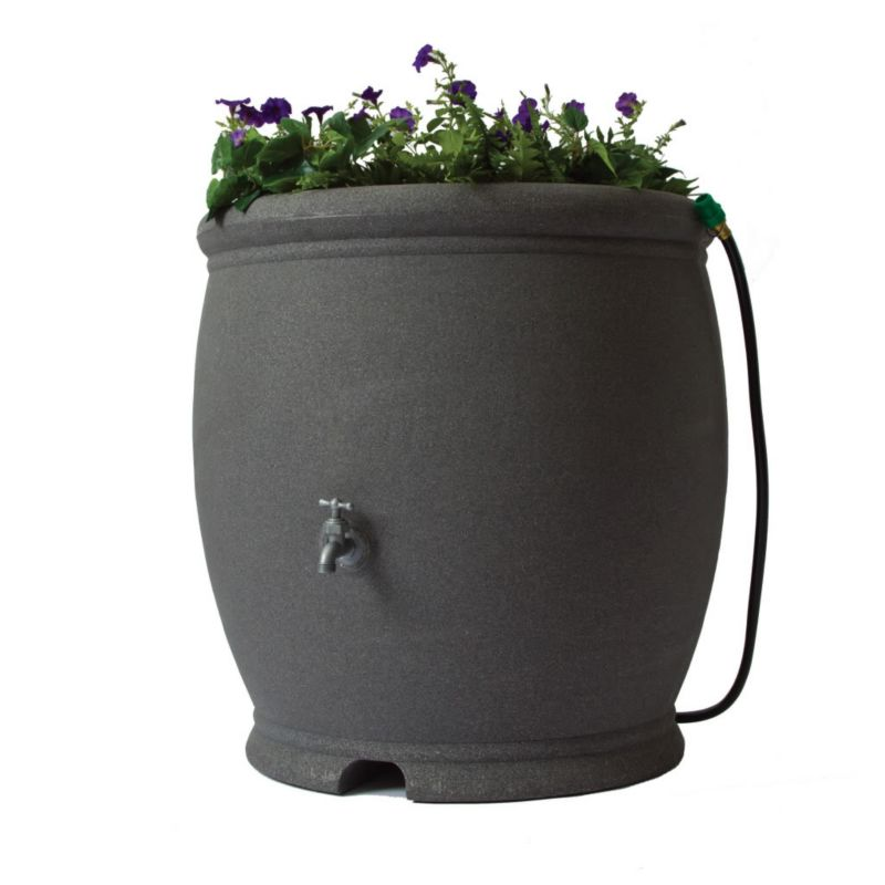 Algreen 100Gal Barcelona Rain Barrel Stucco Gray