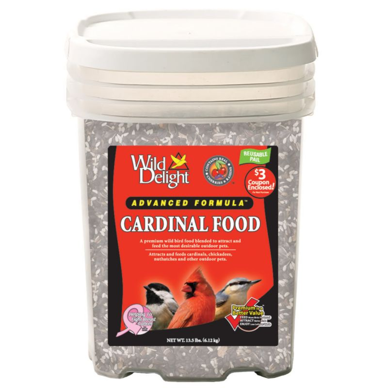 Wild Delight Cardinal Food 13-1/2 LB (DDC376140 719195376141 Wild Bird Supplies Bird Food) photo