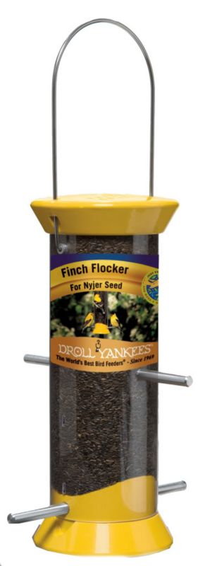 Droll Yankees Yellow Nyjer Tube Feeder 8In (DROCJTHM8Y 021964410865 Wild Bird Supplies Bird Feeders) photo