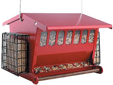 Heritage Farms Red Seeds N More Feeder (AKE7452R 047977000961 Wild Bird Supplies Bird Feeders) photo
