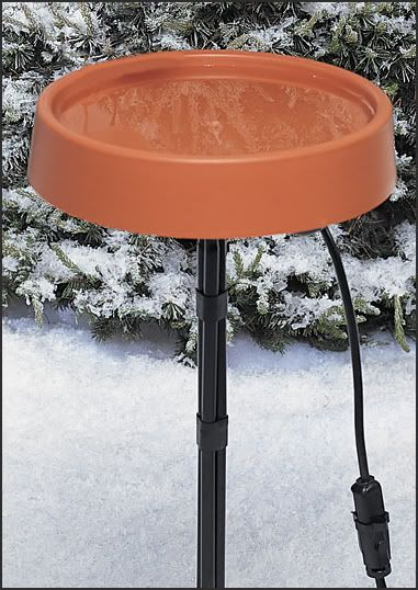 API Heated Bird Bath W/ Std