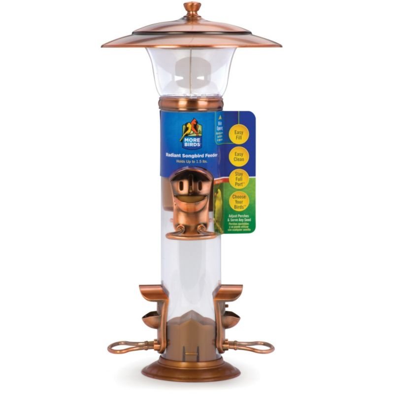 Classic Radiance Mtl Tube Mixed Seed/Snflwr Feeder (CBL25 815562012503 Wild Bird Supplies Bird Feeders) photo