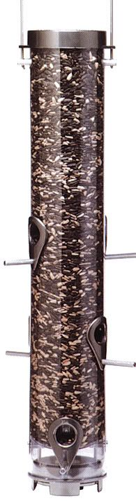 Droll Yankees Pewter 6 Port Sunflwr Tubular Feeder (DROB7F 021964102005 Wild Bird Supplies Bird Feeders) photo
