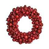 Red Plastic Ball Wreath