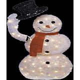 Animated Lighted Long Tinsel Snowman