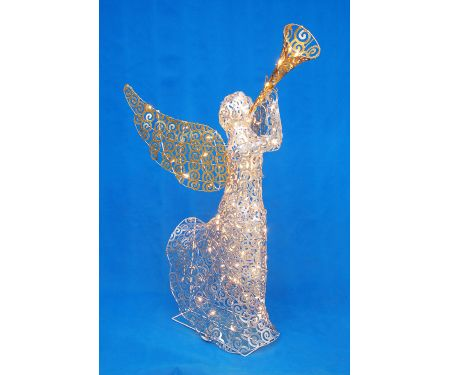 Lighted Swirl Angel With Mini Lights