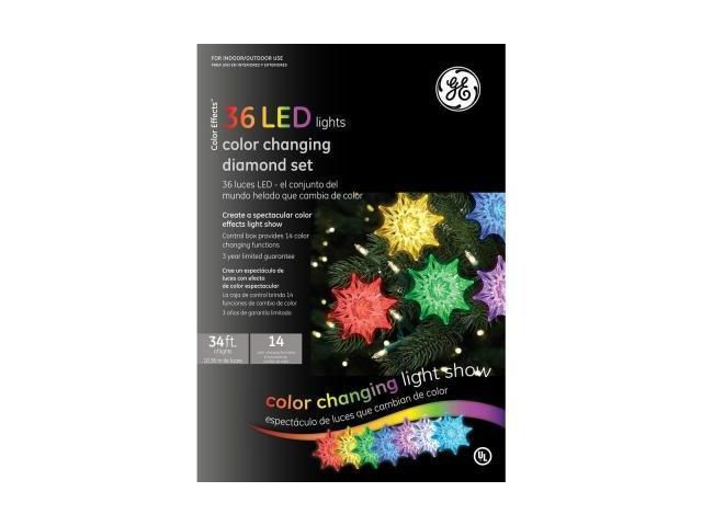36 Light LED Diamond Color Changing Light Show Set