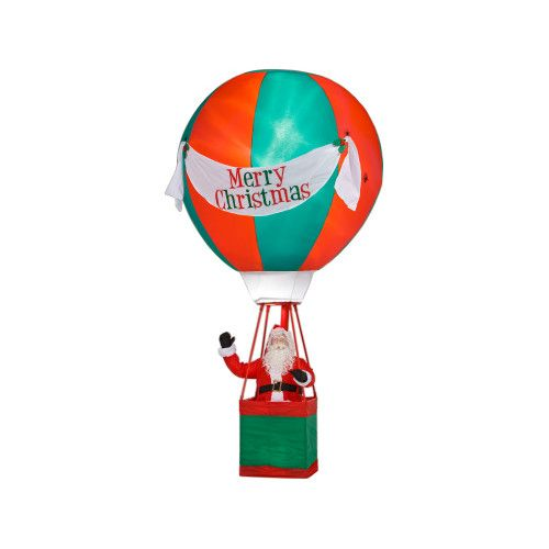 Airblown Santa In Hot Air Balloon
