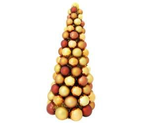 Cone Ornament Tree With Tinsel Gold