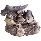 Otter Log Stream Fountain With LED Lights
