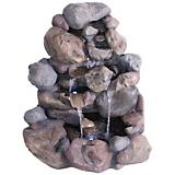 Boulder Cascade Fountain With LED Lights