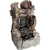 Log Jug Falls Fountain With LED Lights