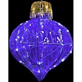 Starry Night Crystal Blue Splendor Onion Shaped
