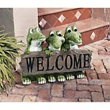 Ragin Cajun Crocodile Welcome Sign Statue