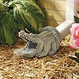 Swamp Alligator Gutter Guardian Downspout Statue