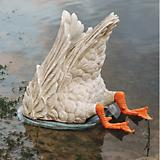 Duck Goose Diving Bird Garden Statue