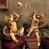 Trumpeting Angels Statue 2 Pack