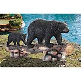 Mother Black Bear And Cub Garden Statue