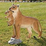 Lioness With Cub Garden Statue