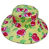 Womanswork Rose Pattern Floppy Hat