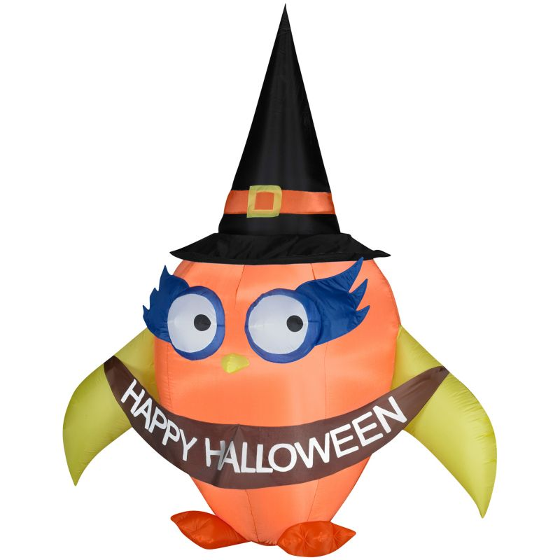 Falloween Owl With Banner