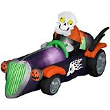Gemmy Halloween Airblown Inflatable Skelly Racer