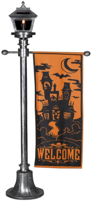Lamppost 6Ft Glo Banner Orange