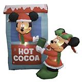 Inflatable Mickey and Minnie Mouse Hot Cocoa Stand