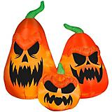 Gemmy Halloween Airblown Scary Jack-O-Latern Trio