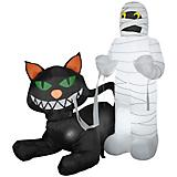 Gemmy Halloween Animated Cat Eating Mummy