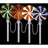 Holiday Peppermint Lollipop Pathway Markers 4 pack