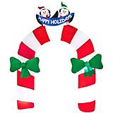 Inflatable Archway Mixed Media Candy Cane/Penguin