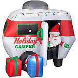 Gemmy Inflatable Animated Santa in Holiday Camper