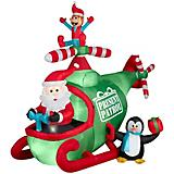 Inflatable Animated Santa and Friends Helicopter
