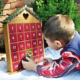 Home Bazaar Holiday Heart Advent Calendar Natural