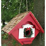 Home Bazaar Christmas Wren Cottage Birdhouse Red