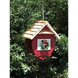 Home Bazaar Christmas Wren Bird Feeder Red