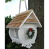 Home Bazaar Christmas Wren Bird Feeder White