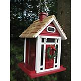 Home Bazaar Christmas Cottage Birdfeeder Red
