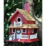 Home Bazaar Christmas Cottage Birdhouse