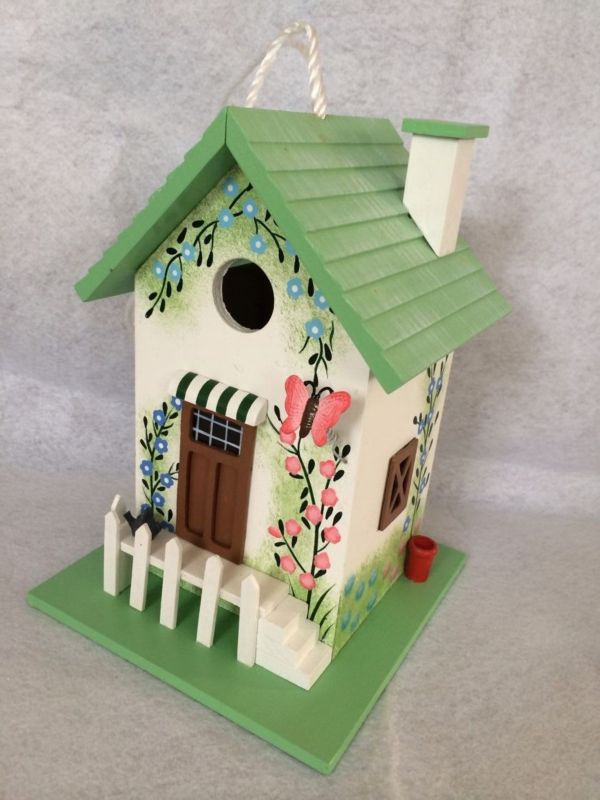 Home Bazaar Butterfly Cottage Birdhouse (HOME BAZAAR INC HB-6002S 812673014792 Wild Bird Supplies Bird Houses) photo