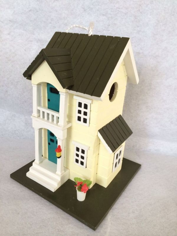 Home Bazaar Main Street Cottage Birdhouse (HOME BAZAAR INC HB-6003S 812673014808 Wild Bird Supplies Bird Houses) photo