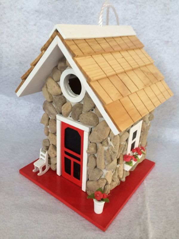 Home Bazaar Fieldstone Guest Cottage Birdhouse (HOME BAZAAR INC HB-6004S 812673014815 Wild Bird Supplies Bird Houses) photo