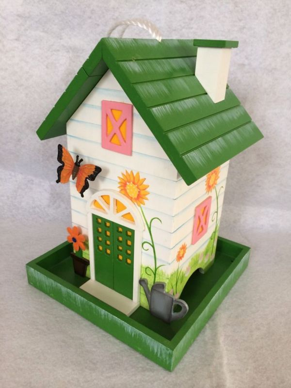 Home Bazaar Butterfly Bird Feeder (HOME BAZAAR INC HB-6008S 812673014853 Wild Bird Supplies Bird Houses) photo